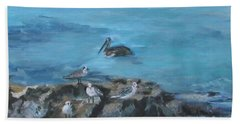Pelican Patrol Beach Towel
