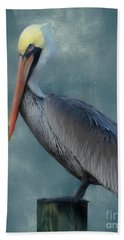 Beach Towel featuring the photograph Pelican Portrait by Benanne Stiens