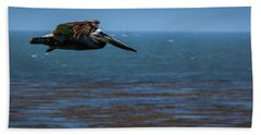Beach Towel featuring the photograph Pelican  by Randy Bayne