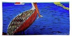 Pelican Snack Beach Towel
