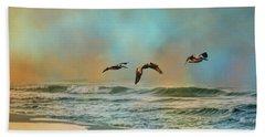 Pelican Trio Beach Towel