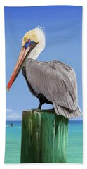 Pelicans Post Beach Towel