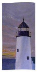 Pemaquid Light Morning Light Beach Towel