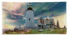 Pemaquid Lighthouse,maine Beach Towel