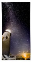Beach Towel featuring the photograph Pemaquid Point Lighthouse by Jim DeLillo