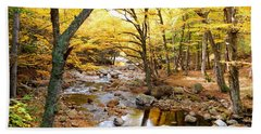 Pemigwasett River At The Flume Beach Towel by Catherine Gagne