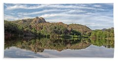 Beach Sheet featuring the photograph Pena Blanca Lake by Elaine Malott