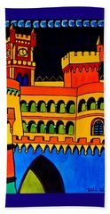 Beach Towel featuring the painting Pena Palace Portugal by Dora Hathazi Mendes