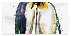 Penguin Couple Beach Towel
