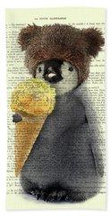Penguin Ice Cream Beach Towel