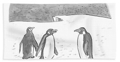 Penguins On Antarctica Beach Towel