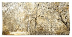 Pennsylvania Autumn Woods Beach Sheet by A Gurmankin