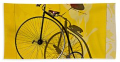 Penny Farthing Love Beach Sheet by Garry Gay