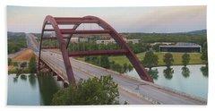 Pennybacker Bridge Summer Morning 4 Beach Towel