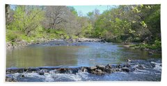 Beach Towel featuring the photograph Pennypack Creek - Philadelphia by Bill Cannon