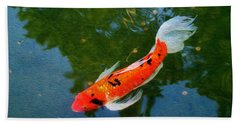 Pensive Koi Beach Sheet