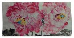 Peoney20161230_624 Beach Sheet by Dongling Sun
