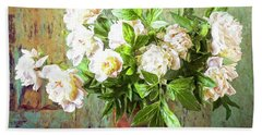Peonies In A Vase Beach Sheet