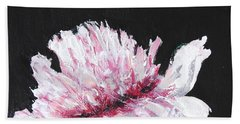 Peony Bloom Beach Sheet by Betty-Anne McDonald