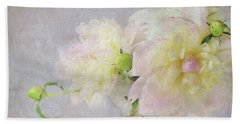 Peony Bouquet Beach Sheet