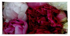 Peony Bouquet Beach Sheet by Lainie Wrightson