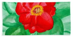 Beach Towel featuring the painting Peony Painting Two by Marsha Heiken