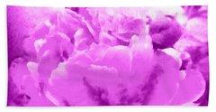 Peony Raspberry Purple - Orchid Frost Peony Beach Towel