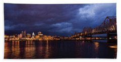 Beach Towel featuring the photograph Peoria Winter 5pm Blues by Andrea Silies
