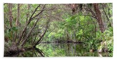 Beach Towel featuring the photograph Pepper Creek Reflections by Carol Bradley