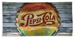 Pepsi-cola Sign Vintage Beach Towel