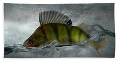 Perch Fishing Painting - Part01 Beach Towel
