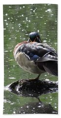 Perchance To Dream Of Fair Wood Duck Maidens Beach Sheet by I'ina Van Lawick