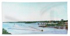 Beach Towel featuring the painting Perdido Key Bay by Betsy Hackett