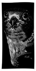 Peregrin Falcon Beach Towel by Lawrence Tripoli