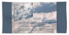 Perfect Clouds Beach Sheet