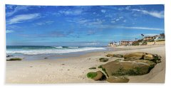 Beach Towel featuring the photograph Perfect Day At Horseshoe Beach by Peter Tellone