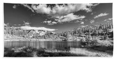Beach Towel featuring the photograph Perfect Lake At Mount Baker by Jon Glaser