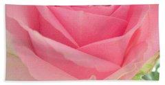 Perfect Pink Rose Beach Sheet