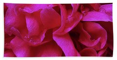 Perfectly Pink Peony Petals Beach Sheet