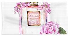 Perfume Florals Beach Towel
