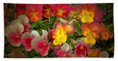 Radiance Pansies Beach Towel