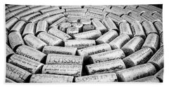 Beach Towel featuring the photograph Perissos Vineyard Wine Corks by Andy Crawford