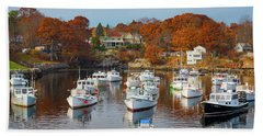 Beach Towel featuring the photograph Perkins Cove by Darren White