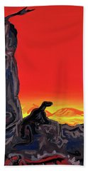 Permian Outpost Beach Towel by Ryan Demaree