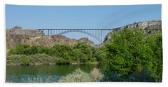 Perrine Bridge At Twin Falls Beach Towel