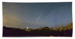 Beach Sheet featuring the photograph Perseid Meteor Shower Indian Peaks by James BO Insogna