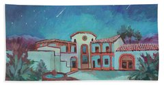 Beach Sheet featuring the painting Perseids Meteor Shower From La Quinta Museum by Diane McClary