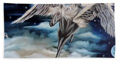 Perseus The Pegasus Beach Towel by Dianna Lewis