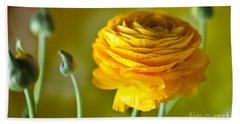 Persian Buttercup Flower Beach Towel
