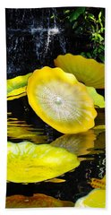 Persian Lily Pads Beach Sheet by Kyle Hanson